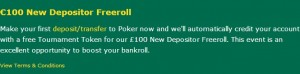 Bet365 New Depositor Freeroll