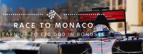 Sky Casino promos Race to Monaco