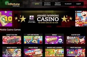 mFortune mobile casino bonus UK