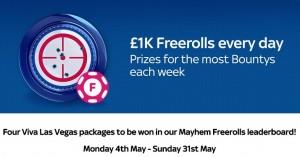 Sky Poker Mayhem Freerolls Promo