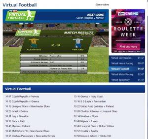 sky bet virtual sports