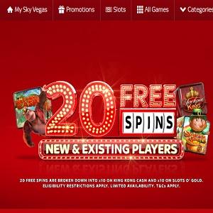 Sky vegas free spin