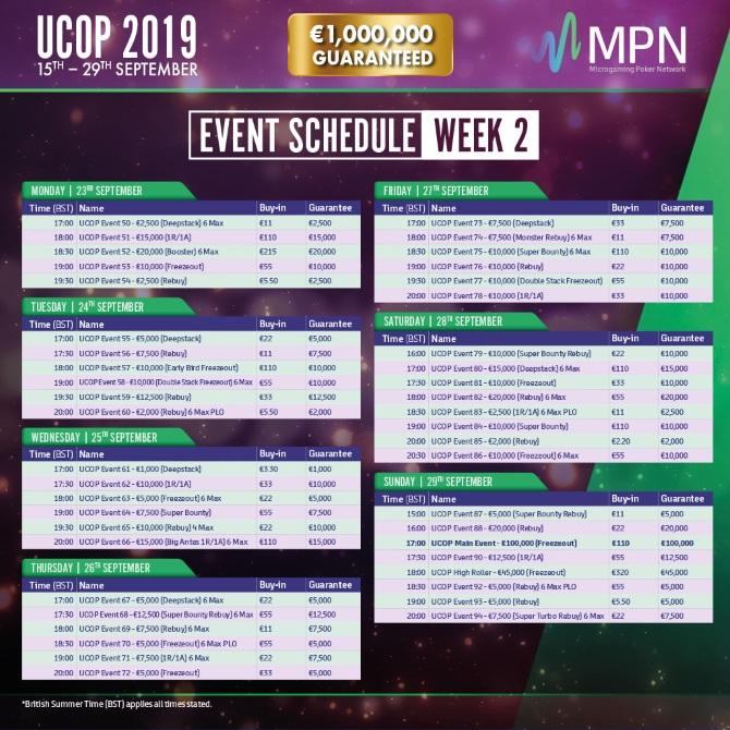 MPN UCOP 2019 Schedule