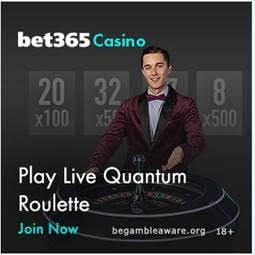 Live dealer roulette through Bet365